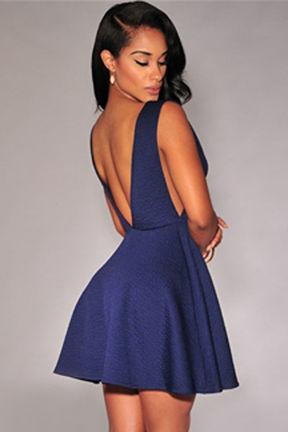 Modra obleka Olivia