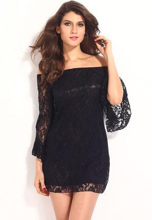 Črna obleka Ajda