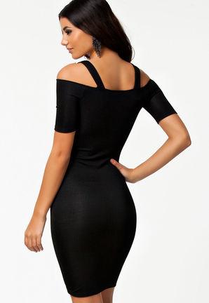 Črna obleka Lilly