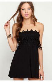 Črna obleka Katherine