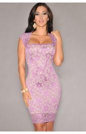 Vijolična obleka Melody
